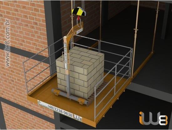 Plataforma de Descarga de Materiais em Obras